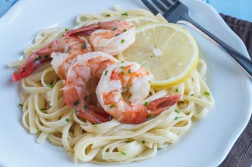 lemon garlic linguine with mascarpone and shrimp (2 of 3)