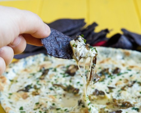 garlic mushroom queso fundido (3 of 3)