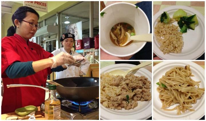 Pat Tanumihardja cooking soup, rice, and noodles.