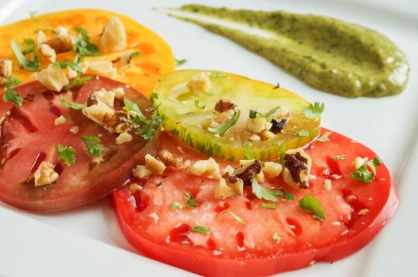Tomato Salad with Avocado Cilantro Balsamic Vinaigrette (2 of 3)
