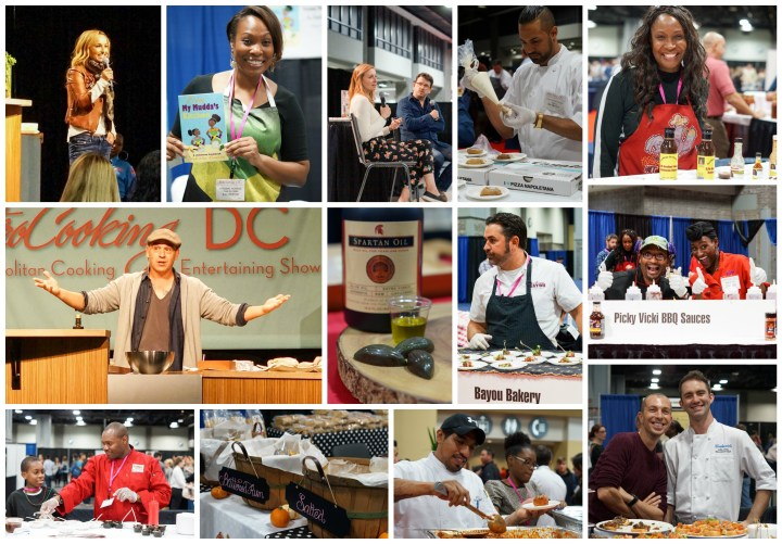 Presenters, vendors, and chefs at MetroCooking DC 2015.