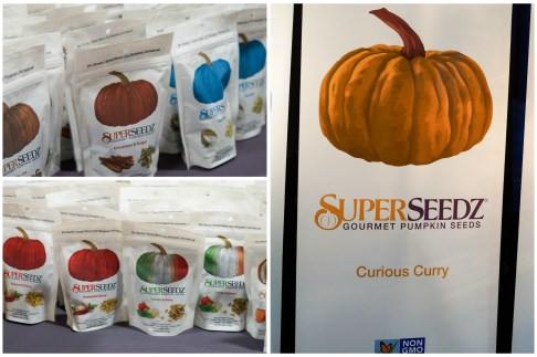 Bags with pumpkins on display at SuperSeedz.