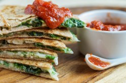 Spinach Feta Quesadillas