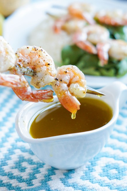 Shrimp with Ladolemono (Greek Lemon Olive Oil Sauce) (3 of 3)