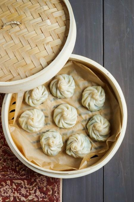 Tarkari Momo (Nepalese Vegetable and Cheese Dumplings)