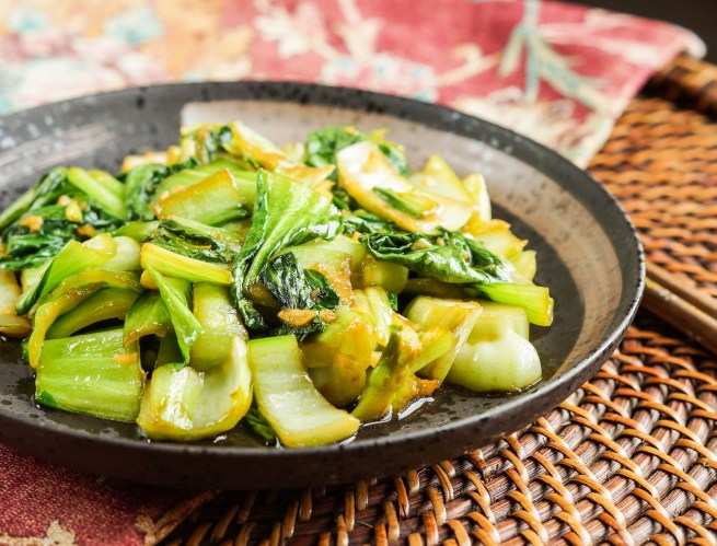 Baby Bok Choy with Ginger and Garlic (1 of 3)