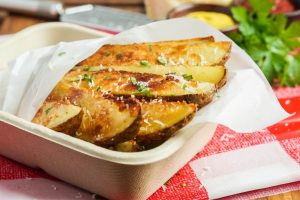 Seasoned Parmesan Potato Wedges