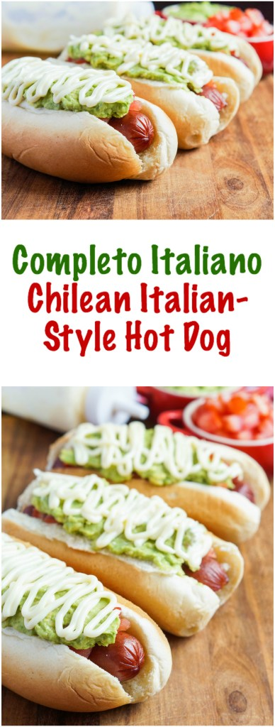 Completo Italiano (Chilean Italian-Style Hot Dog)