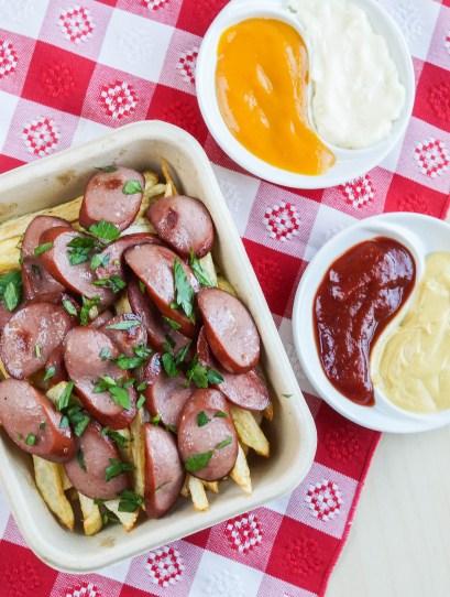 Salchipapas (Peruvian Sausages and Potatoes) (1 of 3)