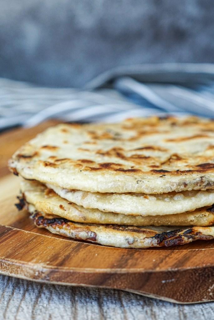 Stack of Katama (Kyrgyz Swirled Onion Flatbread)