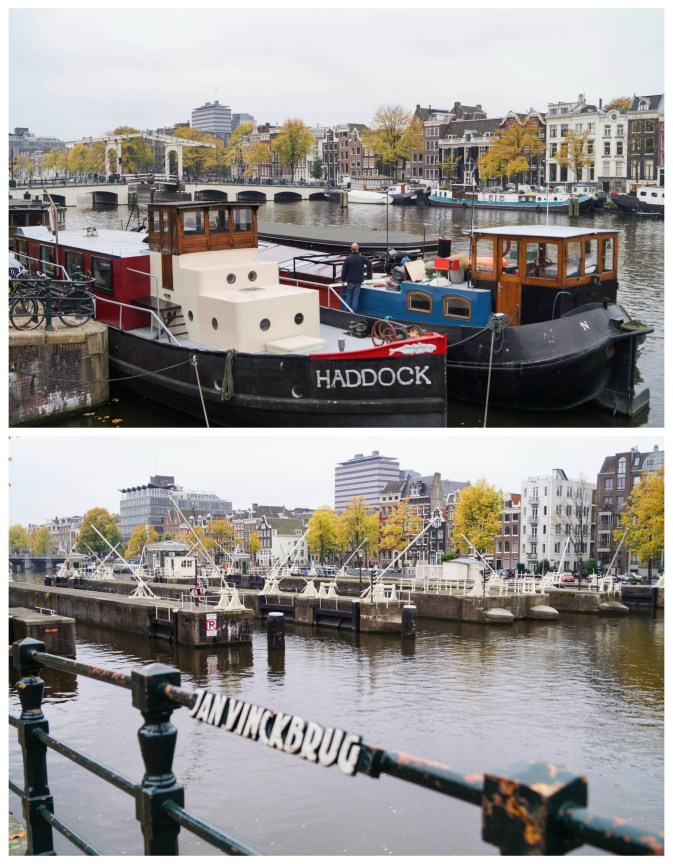 Photo of Jan Vinck Brug with docked boats