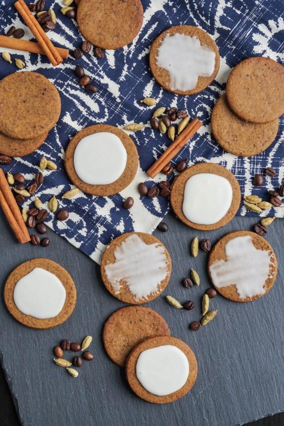 Coffee-Cardamom Cookies with cardamom and cinnamon