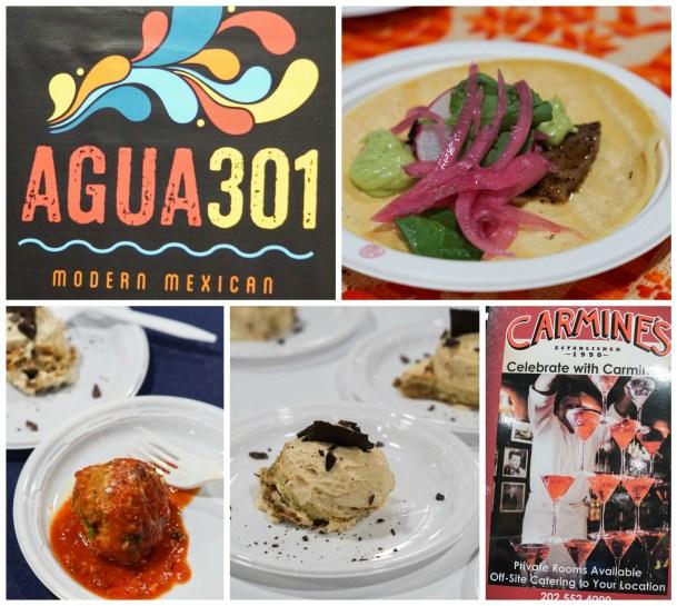 Tacos, meatballs, and tiramisu at Agua 301 and Carmine's.