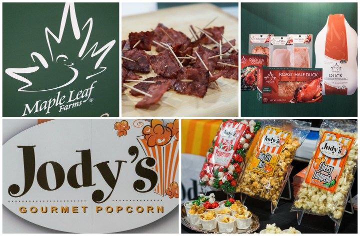 Maple Leaf Farms and Jody's Gourmet Popcorn booths at MetroCooking DC.