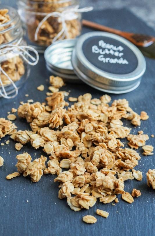 Peanut Butter Granola on a platter