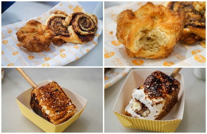 Pastries and S'mores Ice Cream from Dominique Ansel Bakery