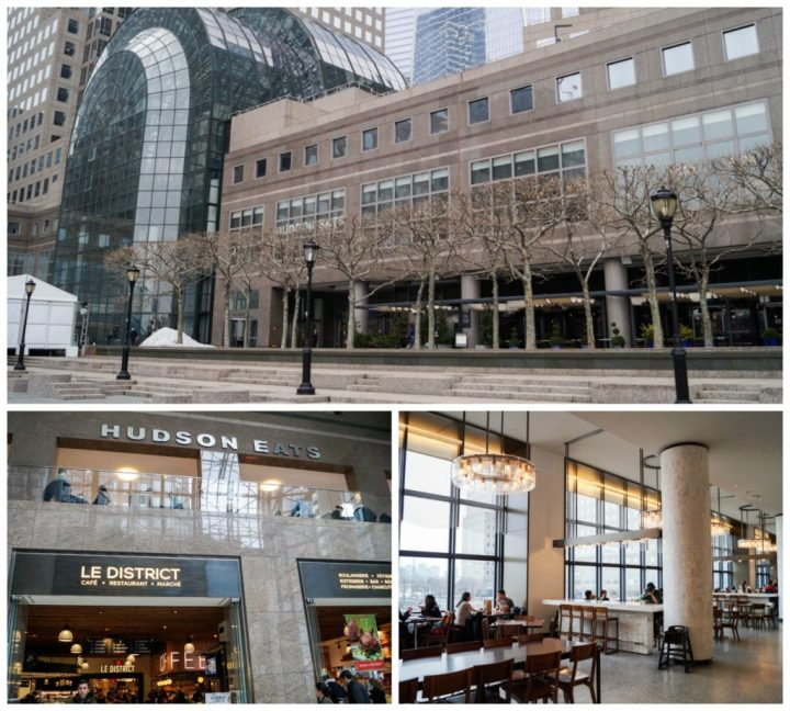 Entrance to Brookfield Place with Hudson Eats food court inside.