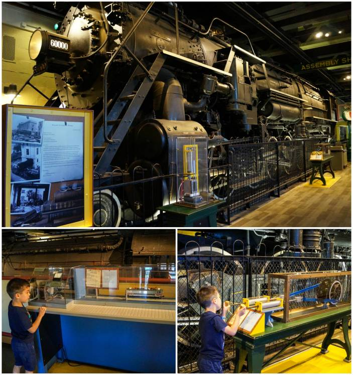 Baldwin Steam Locomotive in The Train Factory at The Franklin Institute
