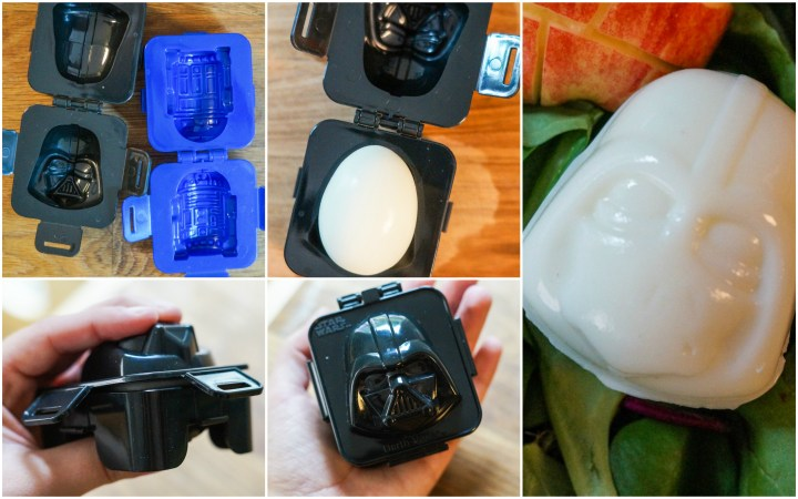 R2-D2 and Darth Vader Egg Molds for Star Wars Bento.