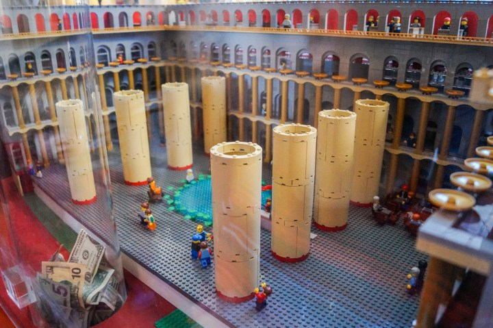 Lego model of the National Building Museum.