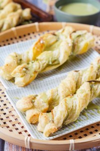 Matcha Puff Pastry Twists
