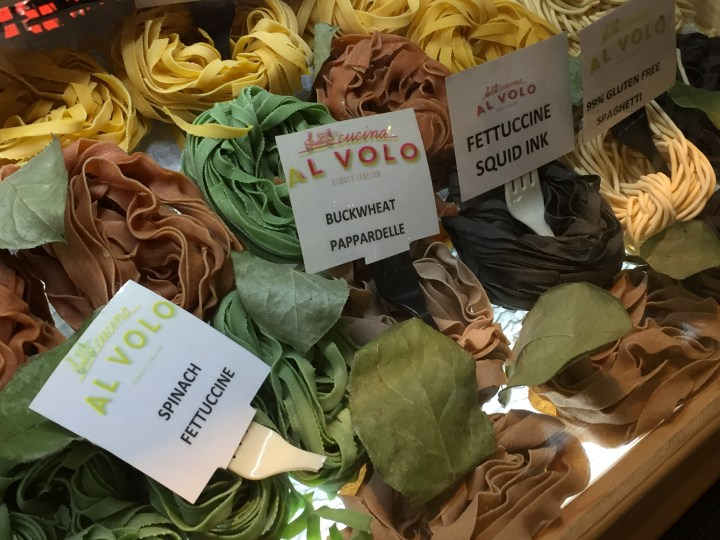 Fresh pasta on display at Cocina al Volo in Union Market