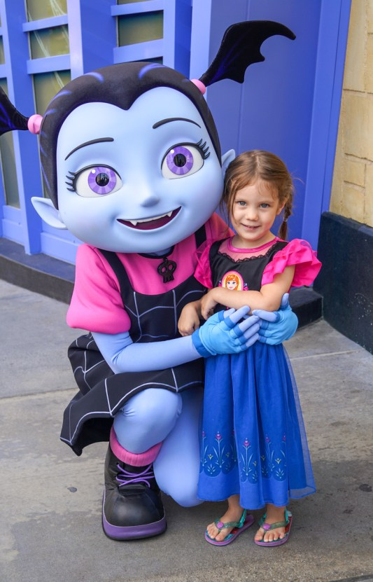 Standing next to Vampirina in California Adventure