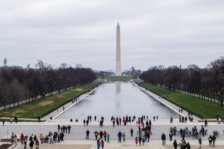 View of the Washington Monument from the Lincoln Memorial