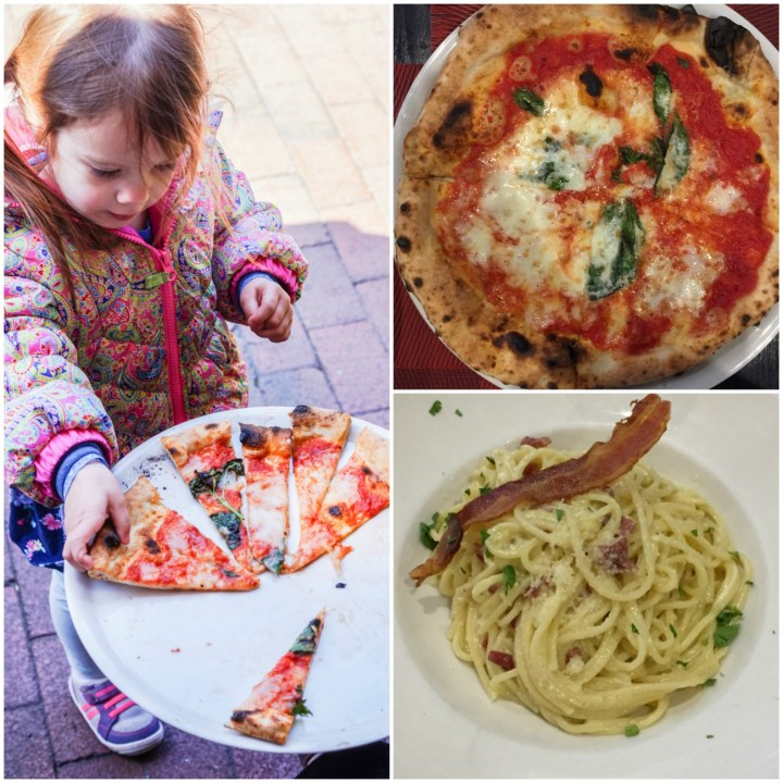 Pizza and pasta at Il Canale
