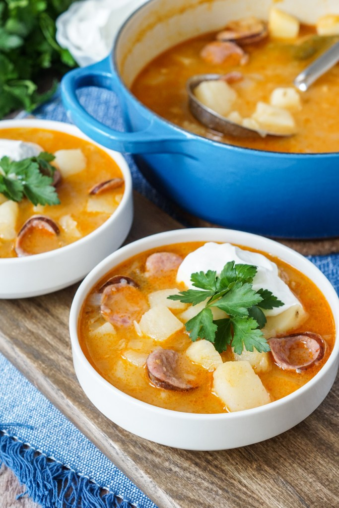 Krumplileves (Hungarian Potato Soup)