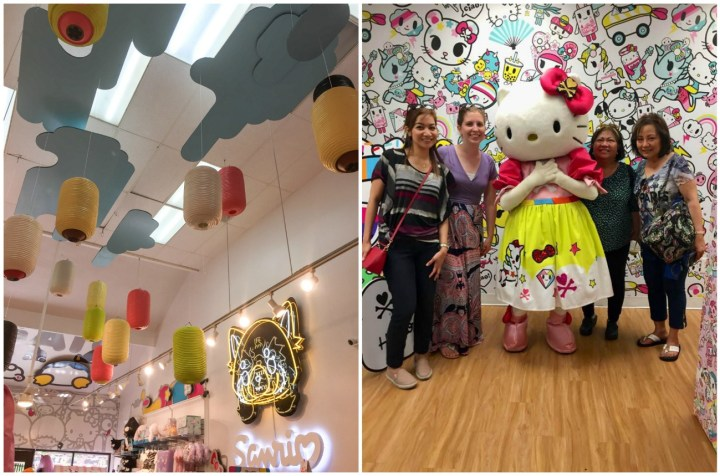 Sanrio Store in Little Tokyo, photo with Hello Kitty