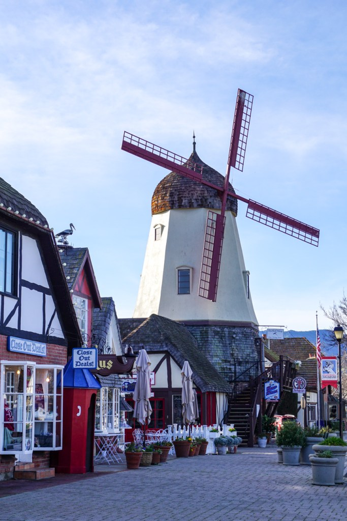 Windmill in Solvang, California.