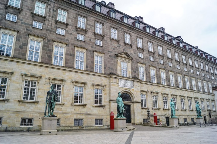 Entrance to Christiansborg Slot (Christiansborg Palace)