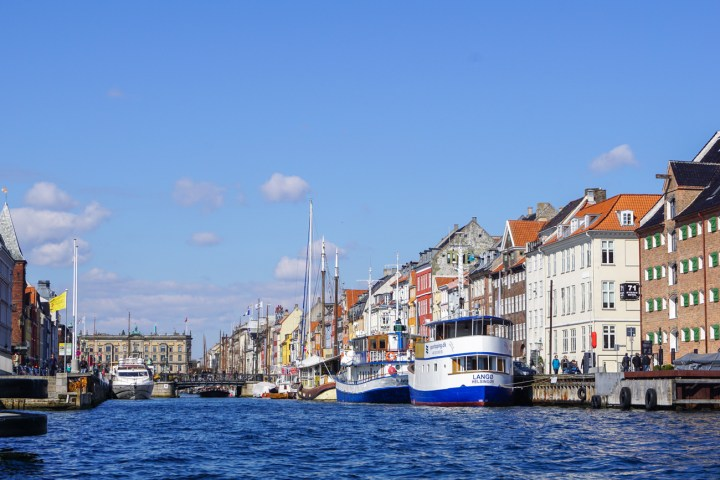 Boats on the water in Nyhavn