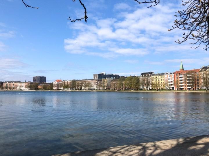 View across the water of Østerbro in Copenhagen
