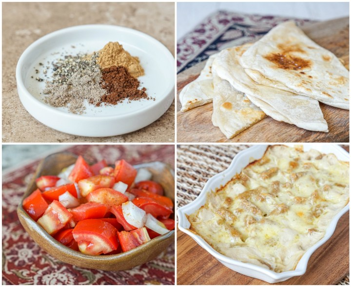 Other dishes from Ethiopia: Mekelesha Spice Blend, Fetira (Layered Flatbread Pastries with Honey), Timatim Kurt (Tomato Salad), and Ethiopian Gnocchi.