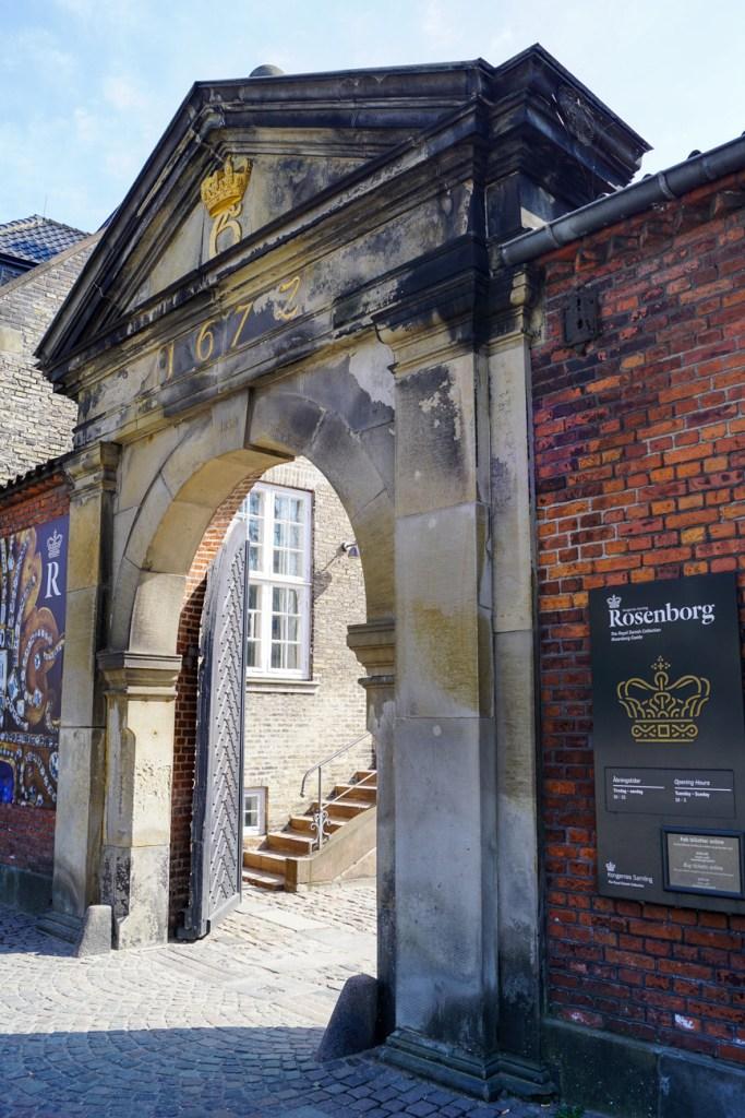 Stone entrance to Rosenborg