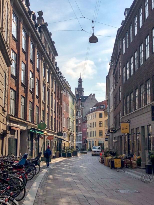 Krystalgade street view in Copenhagen