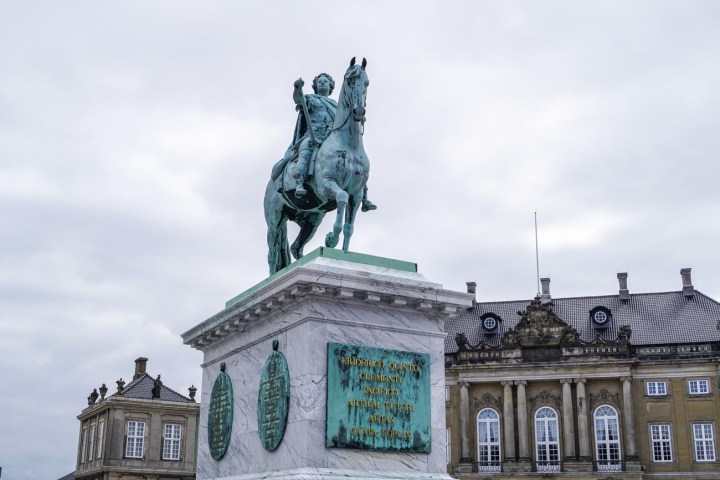 Statue of King Frederik V on a horse