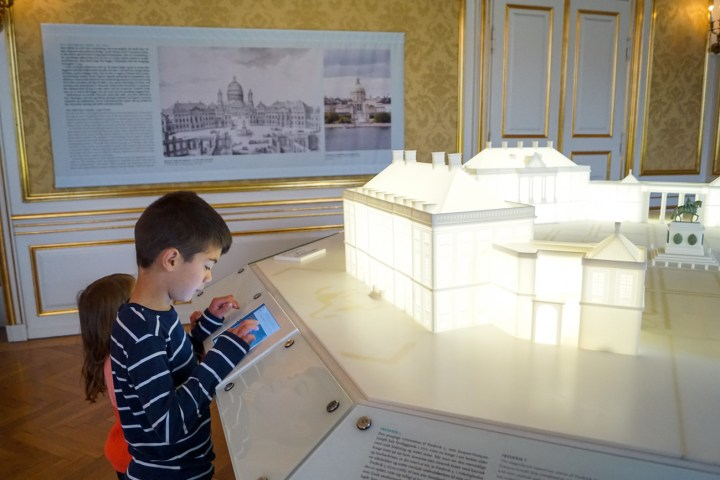 White model of Amalienborg