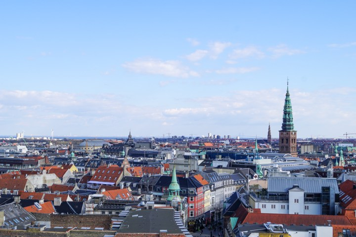 View of Copenhagen from the top of Rundetårn