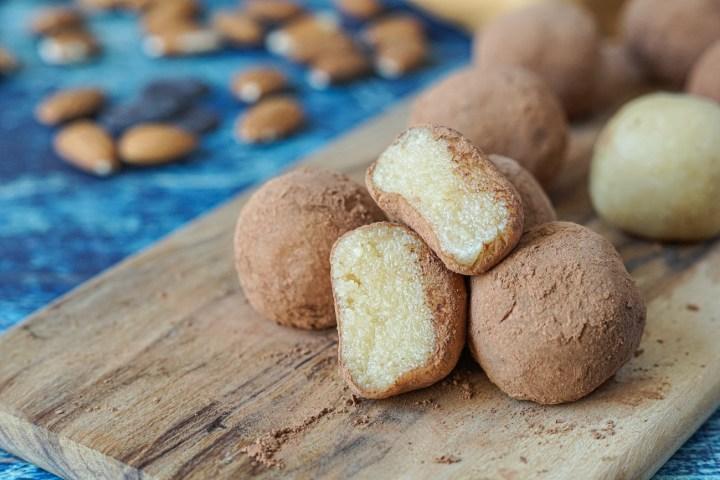 Inside of Badem Ezmesi (Bebek Almond Truffles)