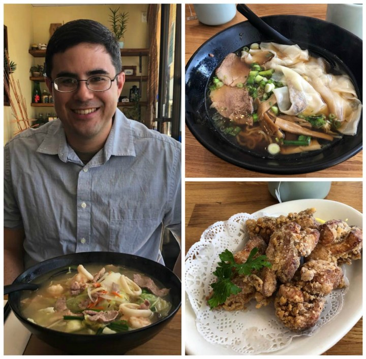 Chanpon, Wonton Shoyu Ramen, and Karaage from Eboshi Ramen Bar
