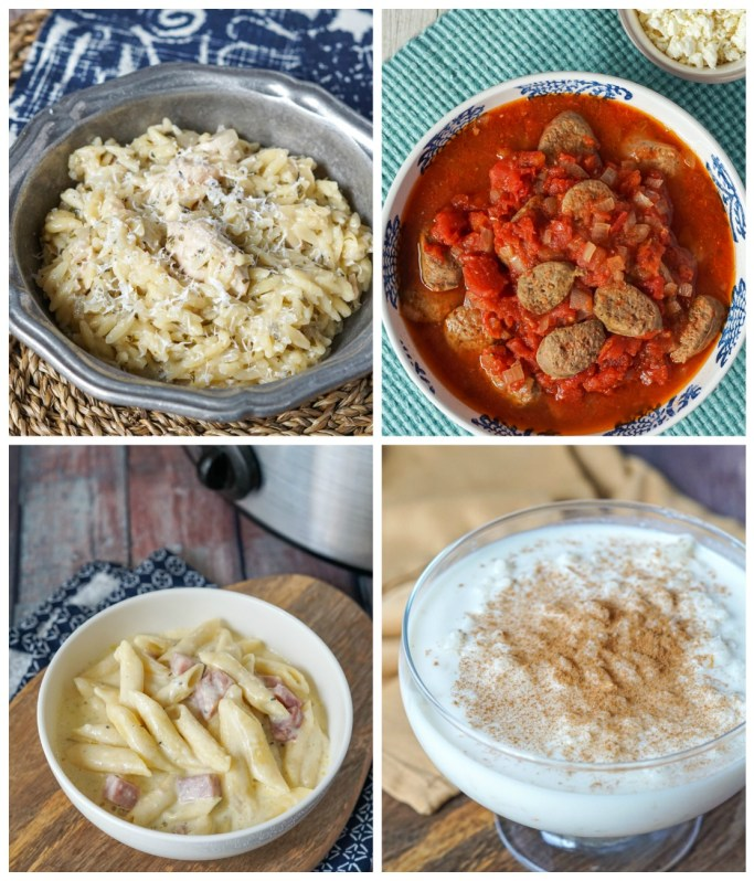 Other recipes from The Greek Slow Cooker: White Wine Chicken with Orzo (Kotopoulo Yiouvetsi Lefko), Country-Style Sausage Pasta Sauce (Saltsa Me Loukaniko), Retro Greek Macaroni and Cheese with Cream (Makaronia Soufle), and Easy Milky Greek Rice Pudding (Ryzogalo).