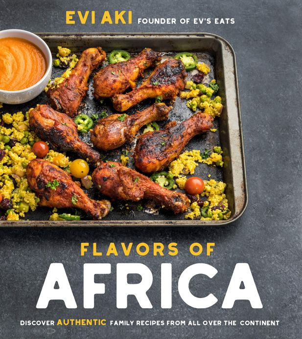 Cookbook Cover- Flavors of Africa: Discover Authentic Family Recipes from All Over the Continent.