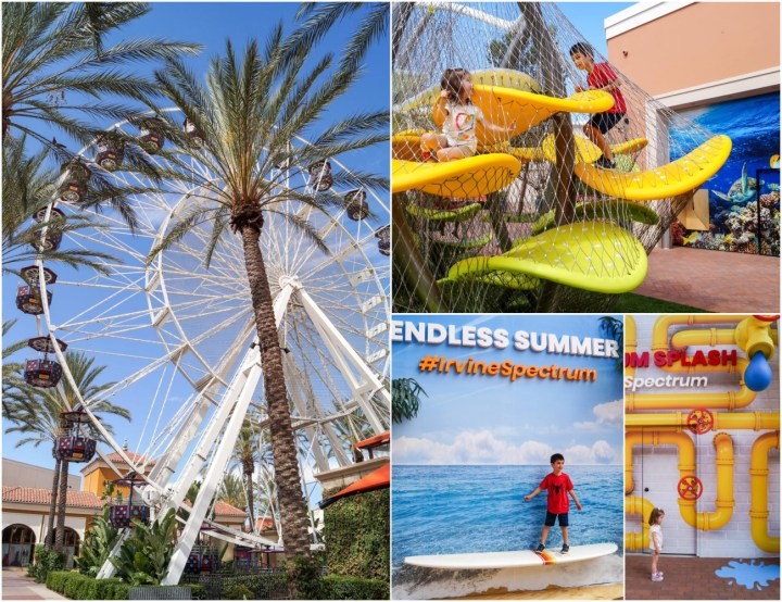 Ferris wheel and play area at Irvine Spectrum Center.