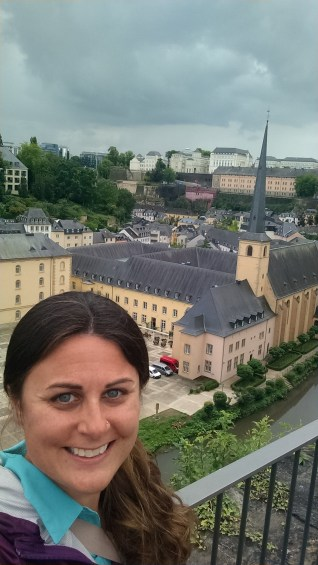The walled part of the old city of Luxembourg behind me