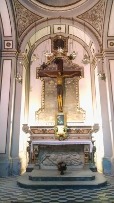 Inside the Naples Cathedral.