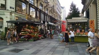 Street stands of Vienna