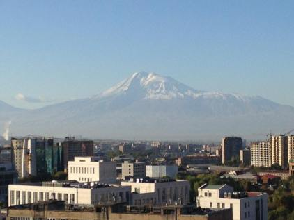 Mt Ararat in splendor over Yerevan, Armenia